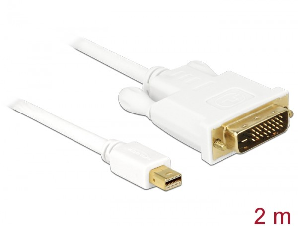 Delock Kabel mini Displayport Stecker zu DVI 24+1 Stecker 2 m