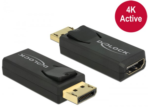 Delock Adapter DisplayPort 1.2 Stecker > HDMI Buchse