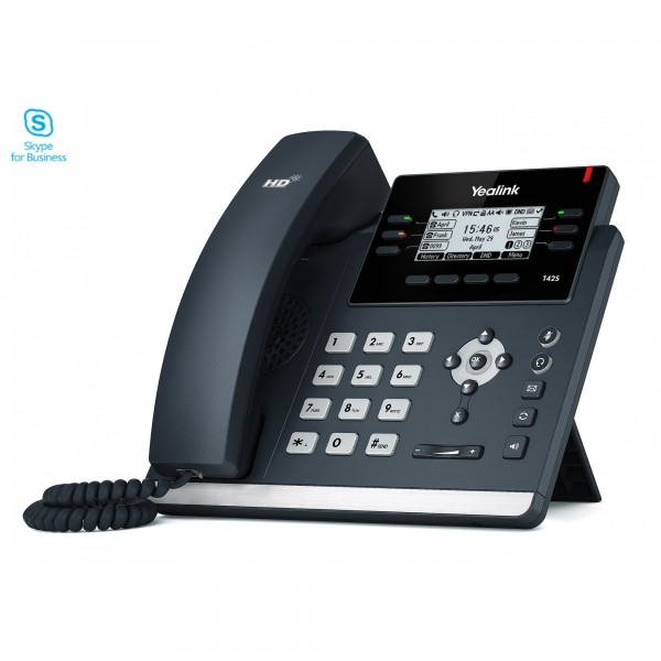 Yealink T42S MS Skype-for-Business IP-Telefon PoE,