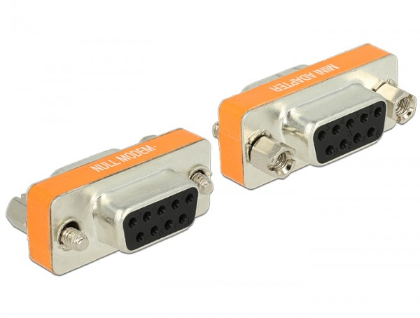 Delock Adapter Nullmodem Sub-D 9 Pin Buchse > Buchse Gender Changer
